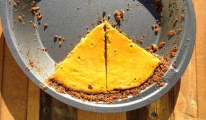 huckleberry thinn maple pumpkin pie with walnut crust