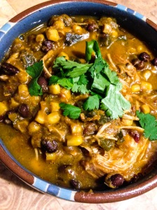 pumpkin poblano chipotle chicken chili